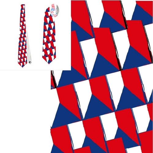 necktie Czech flag vexillology patriotic national football fan tietie