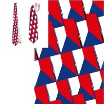 necktie Czech flag vexillology patriotic national football fan tietie - $22.00