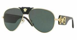 Authentic Versace VE2150Q 1002/71 62mm Sunglasses Gold Havana / Grey Gre... - $123.74