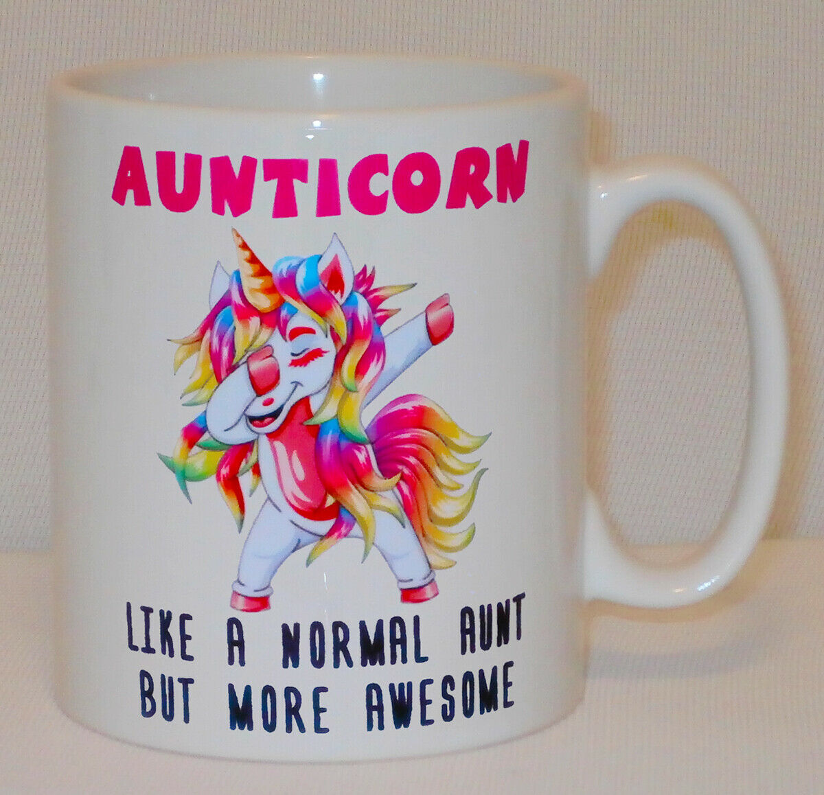 Aunticorn Unicorn Mug Can Personalise Funny Awesome Aunt Aunty Coffee Tea Gift