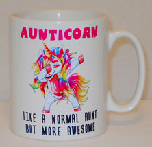 Aunticorn Unicorn Mug Can Personalise Funny Awesome Aunt Aunty Coffee Te... - $11.16