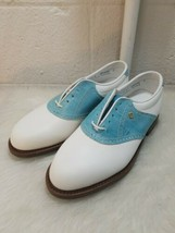 Vintage Footjoy Classics Golf Shoes Made In Usa Blue & White Women's 7 D - $44.55