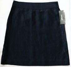 $225 NWT DKNY Donna Karan New York Skirt 4 Small S Navy Blue Wool Pencil New - $69.25