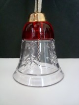 Bell of Hand Cut Glass from Czech Republic - $4.99