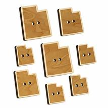 Utah State Silhouette Wood Buttons for Sewing Knitting Crochet DIY Craft - Small - $9.99