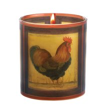 Country Rooster Candle Bamboo Hyacinth Fragrance - $7.99