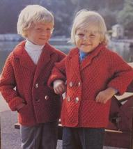 Vintage Patons Knitting Patterns CHILDRENS Sweater Jackets Chest 24 - 28... - $5.95