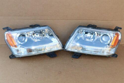 06-08 Suzuki Grand Vitara Halogen Headlight Light Lamp Matching Set L&R POLISHED