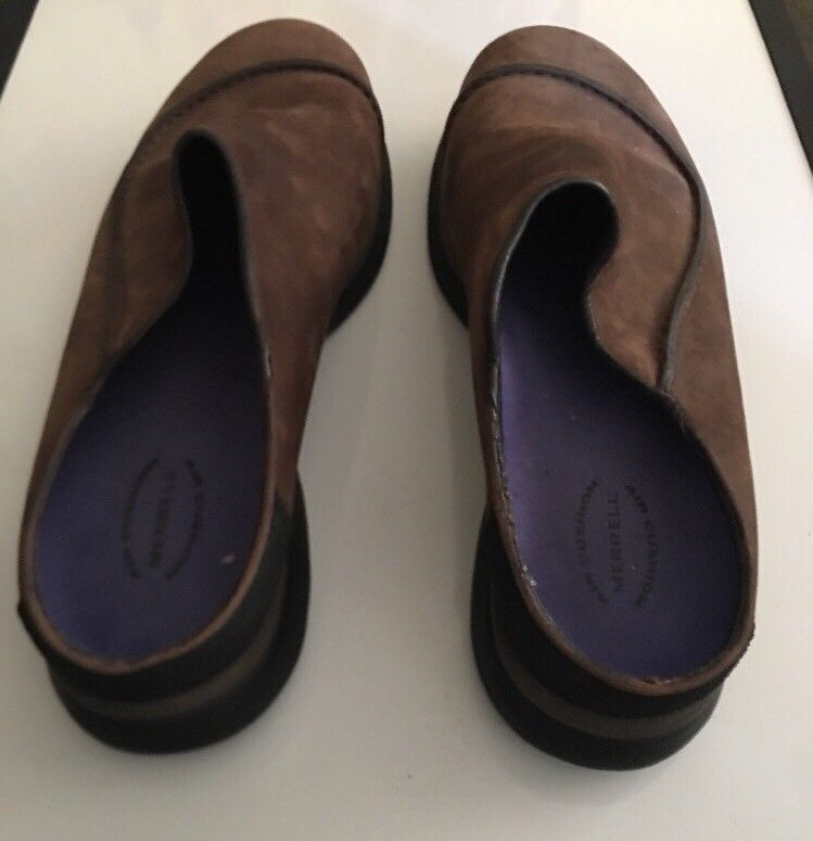 Mens MERRELL Brown Topo Wave Slide Suede Slip on Mocs Clogs Shoes sz 11 M image 9