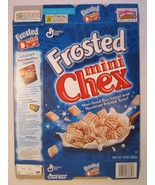Empty GENERAL MILLS Cereal Box 2002 FROSTED MINI CHEX 15 oz - $19.14