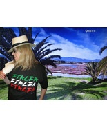 "Silk-Screened Serigraphic Beautiful ""ITALIA"" Black T-Shirt By Bila B M - $29.99"
