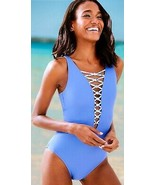 Lilly Pulitzer Isle Lattice Blue Haven One Piece Swimsuit 10 - $138.00