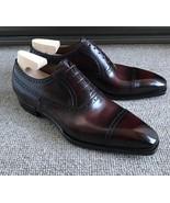 Handmade men's Brown Color Leather Shoes Men Lace up dress Formal Shoe - $169.97+