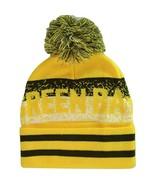Green Bay Pixelated Adult Size Winter Knit Pom Beanie Hat (Gold/Dark Green) - $13.75