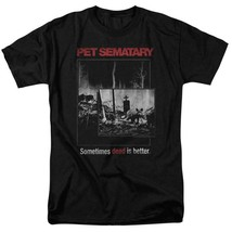 Pet Sematary T-shirt Dead Better Stephen King retro 80's horror movie Black Tee image 1
