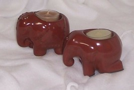 Partylite Thai Inspiration Elephant Tealight Pair with Tealights P9173 - $10.95
