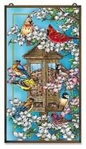 Amia Songbird and Cardinal Glass Window Décor Panel, Multicolored - $188.05