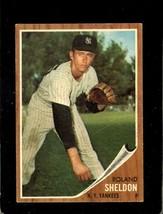 1962 Topps #185 Roland Sheldon Vgex Yankees *XR22062 - $4.00