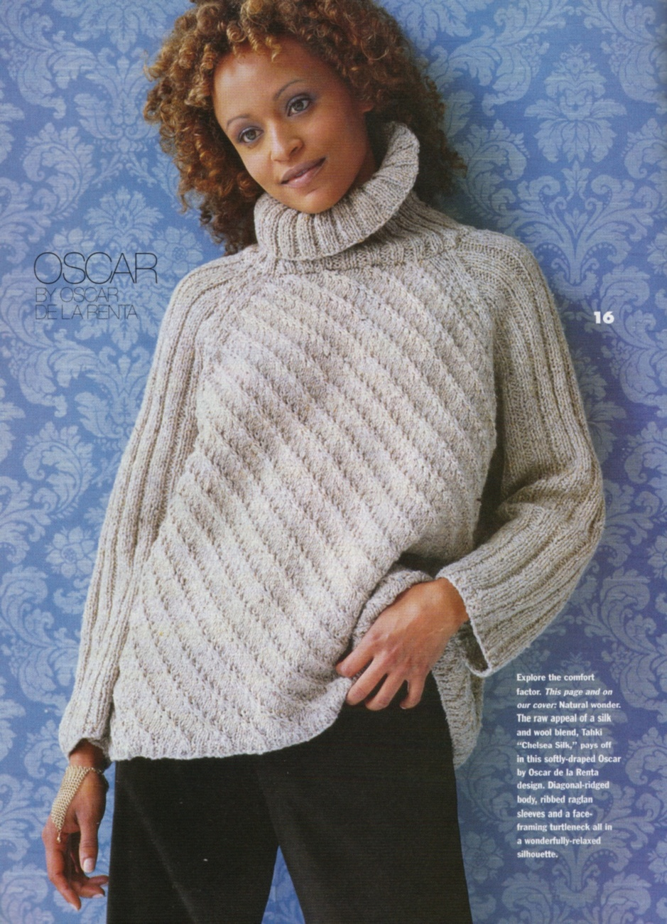 VOGUE KNITTING Fall 1998 Cables Ribs Quilt Motifs His & Hers Hooded Cape ...