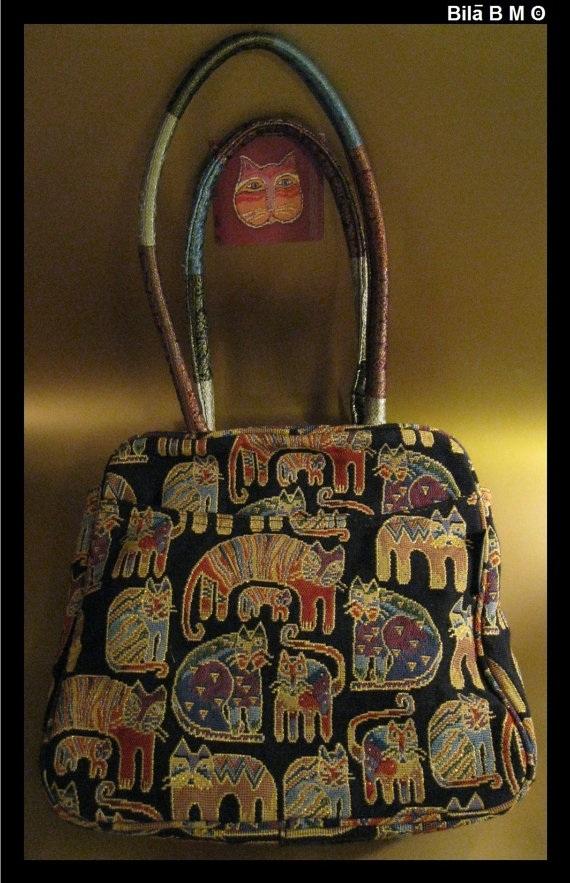 LAUREL BURCH Cat Tapestry TOTE Bag - Story Weavings - Free Shipping