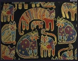 LAUREL BURCH Cat Tapestry TOTE Bag - Story Weavings - Free Shipping image 3