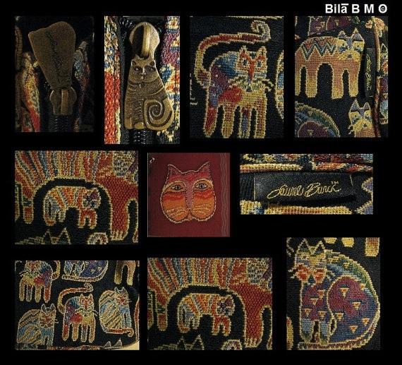 LAUREL BURCH Cat Tapestry TOTE Bag - Story Weavings - Free Shipping image 4