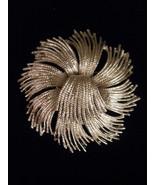 MONET Pinwheel Silvertone Brooch Pin Vintage  - $4.95