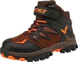 Elaphurus Kids Mid Hiking Boots Winter Snow Boots (8 M US Teens|1-orange) - $60.69