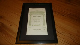 PAGANINI richard tauber/evelyn laye london lyceum 1937-framed original a... - $14.90