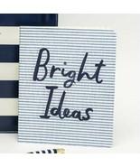 Kate Spade Bright Ideas Notebook Concealed Spiral Book Seersucker 112 Li... - $18.95
