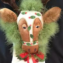 Krinkles Dept 56 Patience Brewster Reindeer Christmas Stocking 2007 Retired - $133.65