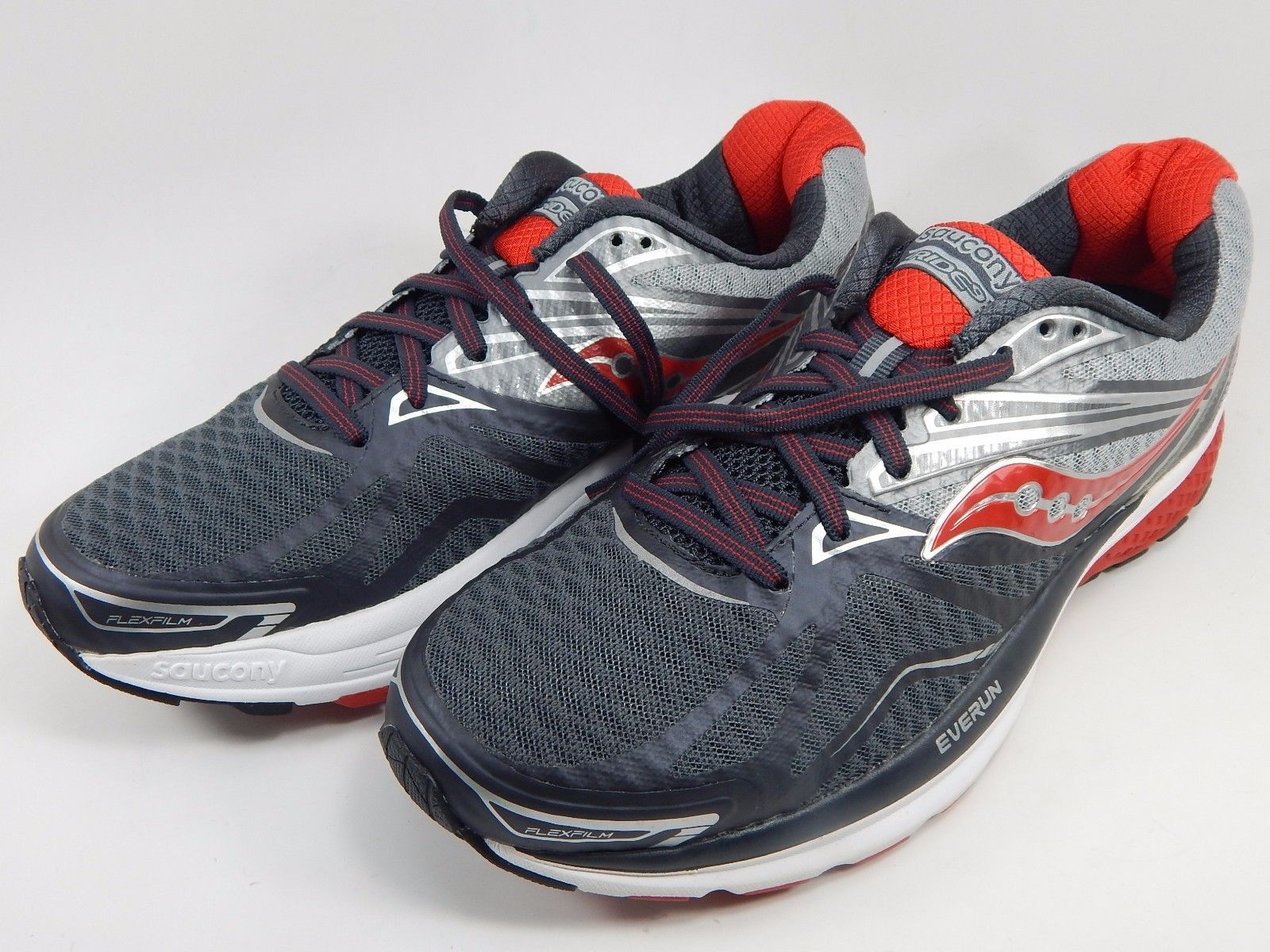 Saucony Ride 9 Men's Running Shoes Size US 9 M (D) EU 42.5 Grey Red S20318-1