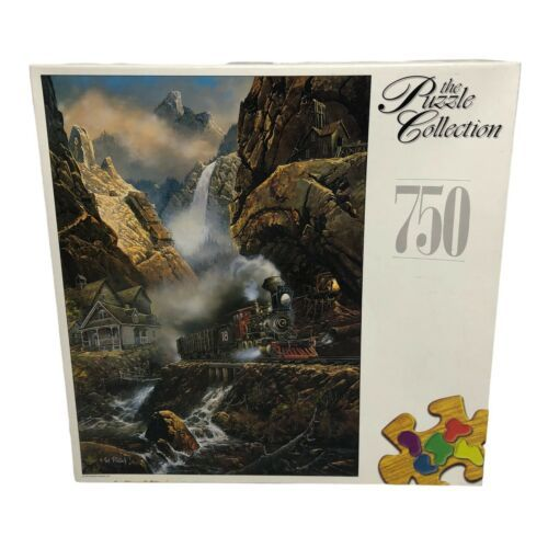 1998 RoseArt Puzzle Collection 750 Piece Rails to Pandora Jigsaw Puzzle Sealed - $19.99