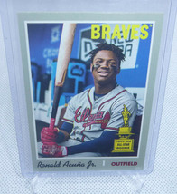 2019 Topps Heritage RONALD ACUNA JR SP Rookie Cup Image Variation Card #500 - $45.53