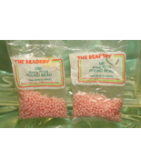4mm ROUND BEADS THE BEADERY PLASTIC PEACH SWIRL 2 PACKAGES 1,160 COUNT - $3.99