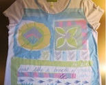 Vintage SIGNED SIGRID OLSEN Short Sleeve Tee - Medium - FREE SHIPPING
