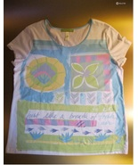 Vintage SIGNED SIGRID OLSEN Short Sleeve Tee - Medium - FREE SHIPPING - $20.00