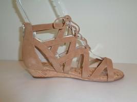 Sam Edelman Size 7 M DAWSON Brown Leather Wedge Sandals New Womens Shoes - $107.91