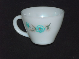 VTG Fire King Replacement Double Sided Blue Floral Milk Glass Coffee Cup... - $9.88