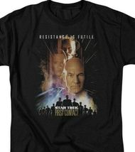 Star Trek The First Contact Borg Collective 1996 Sci-Fi graphic t-shirt CBS526 image 3