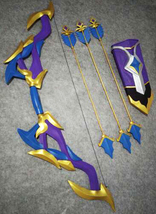 LOL Amethyst Ashe Weapon Bow Cosplay Replica Prop Buy - $190.00+