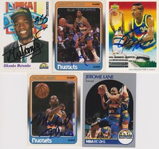Denver Nuggets Signed Lot of (5) Trading Cards - Mutombo, Lever, Lane - $19.99