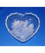 Mikasa Embossed Flowers Crystal Heart Shaped Candy Dish  - $5.99