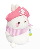 Molang Pirate Stuffed Animal Rabbit Plush Toy 8.6 inches 22cm (Pink) image 2