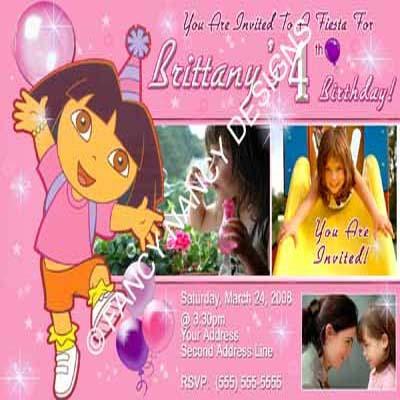 Dora The Explorer Go Diego Go Girls Cowboy Cowgirl Birthday Party Invitation