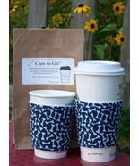 Cozy to Go Cup Wrap Blue Dog Bone Print BFB1 - $10.00