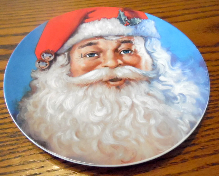 Primary image for Vintage Santa plate by Michael Jarezko.  Traditional Santa, Christmas. holiday p