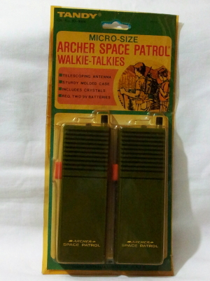 Primary image for Vintage Archer Space Patrol Walkie Talkies 60-9004  (battery not included and )
