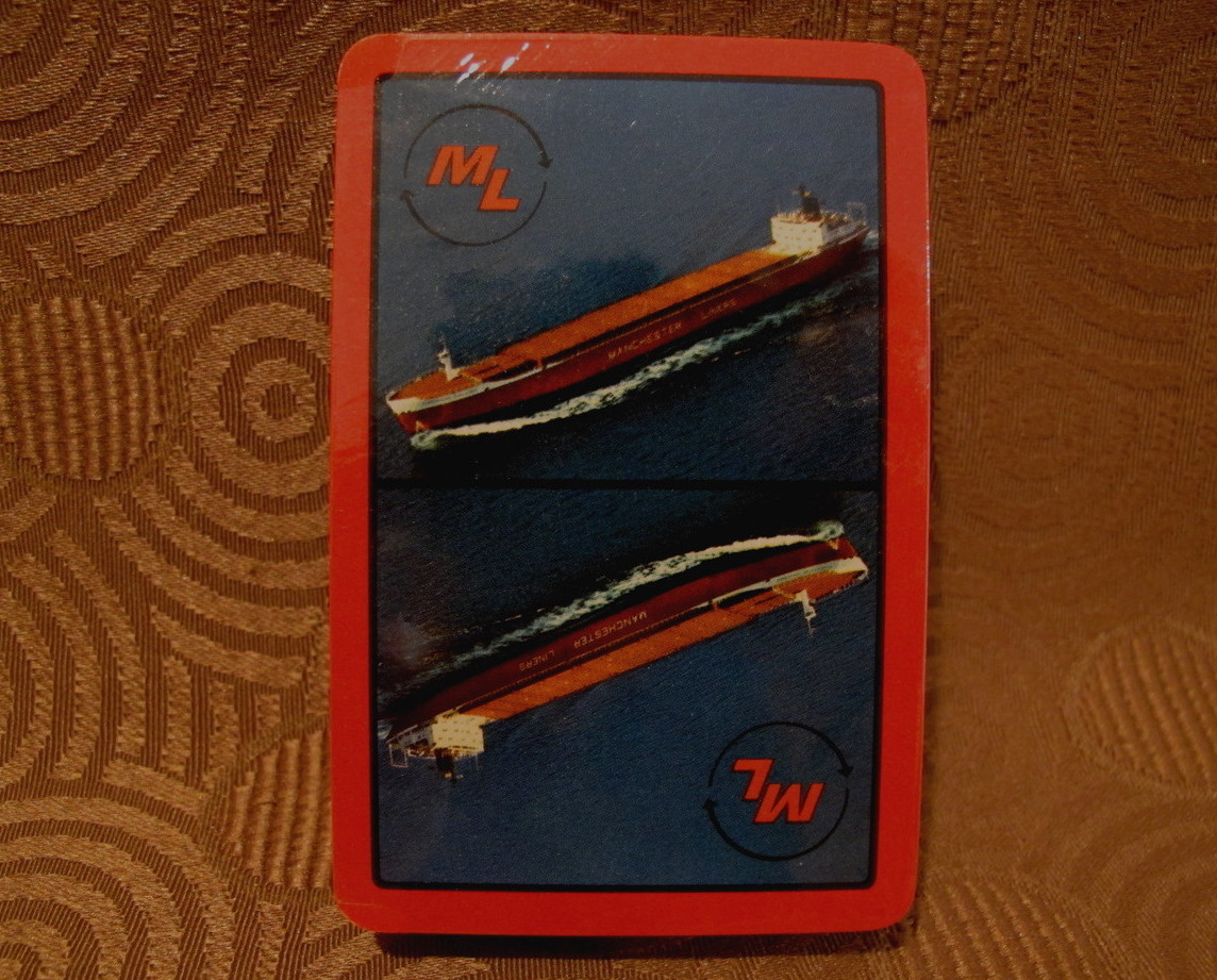 Manchester Liners Deck of Playing Cards Souvenir England British Cargo Ship Red
