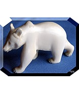 Carved Ivory Figurine IceBear Polar Bear Ivory Pre-Ban German Estate 1930 Big  - $285.00